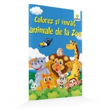 Colorez și învăț animale de la zoo - Editura Gama